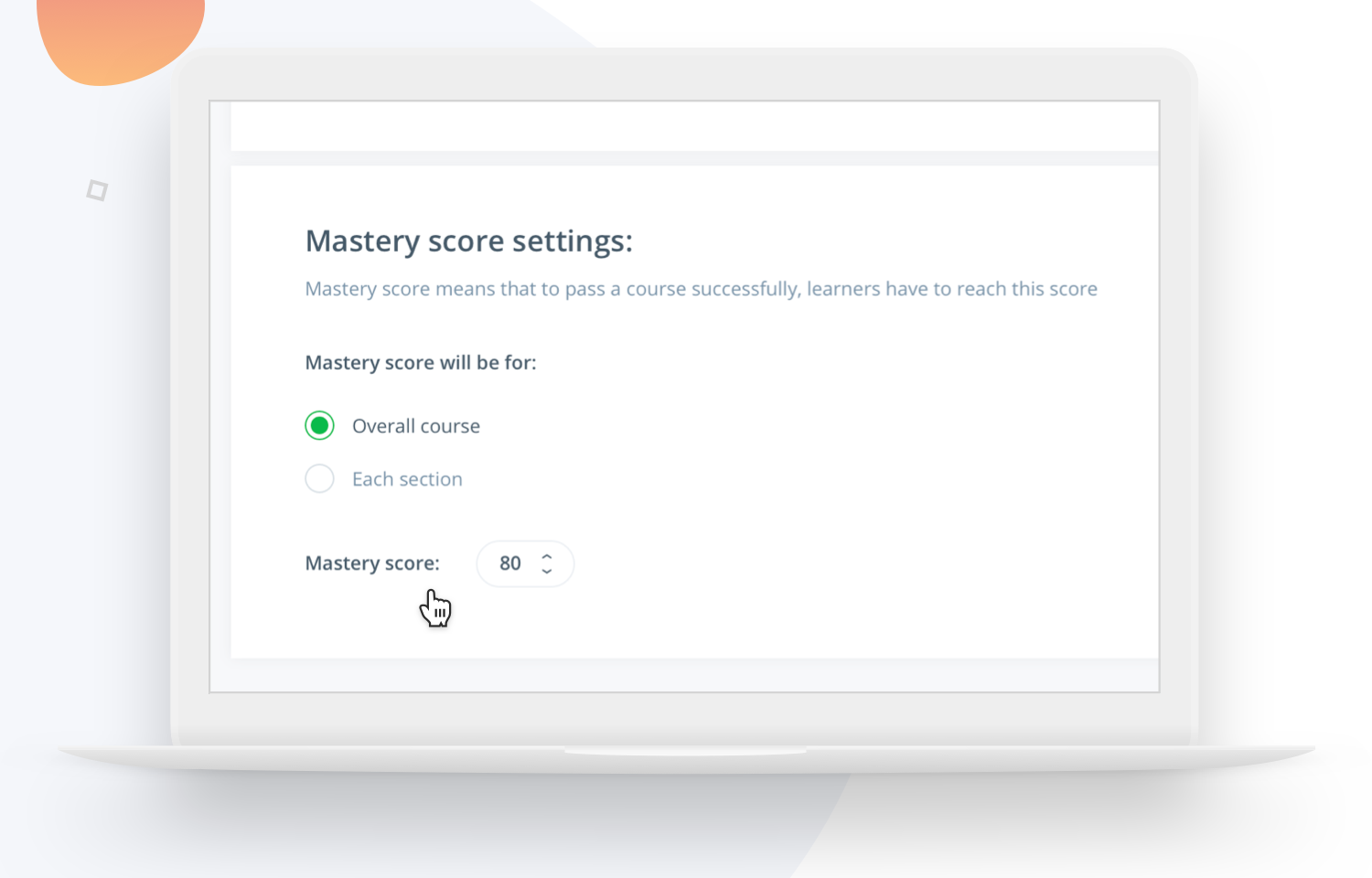 Give your users a mastery score with Easygenerator