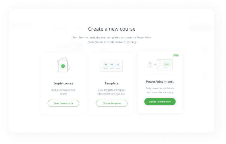 Convert PowerPoint to interactive e-learning and SCORM